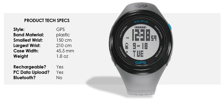soleus gps fit 1.0 sizing guide