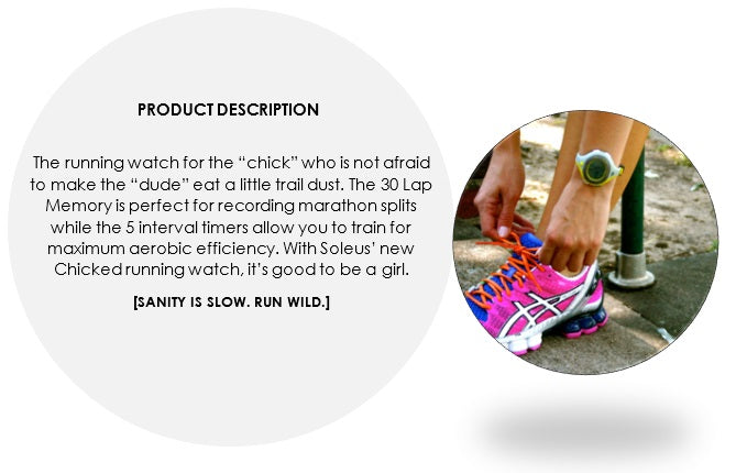 chicked running watch features