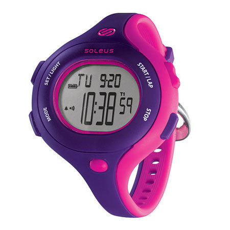 soleus chicked pink digital running sport watch