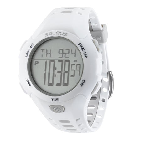 soleus contender white digital running sport watch