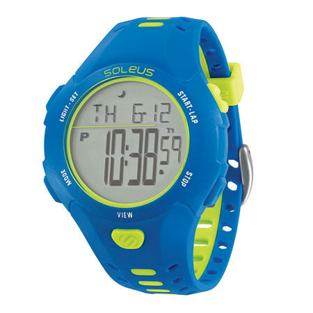 soleus contender blue digital running sport watch