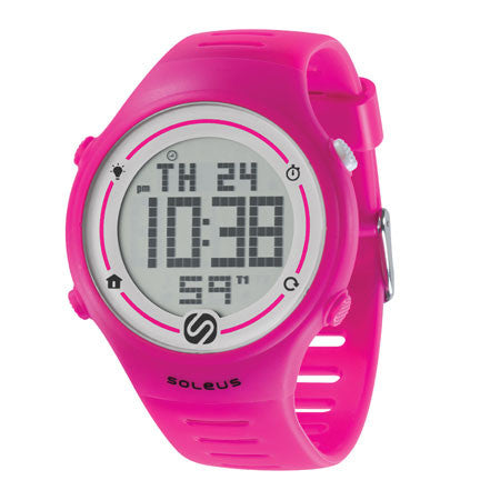 soleus sprint pink running digital sport watch