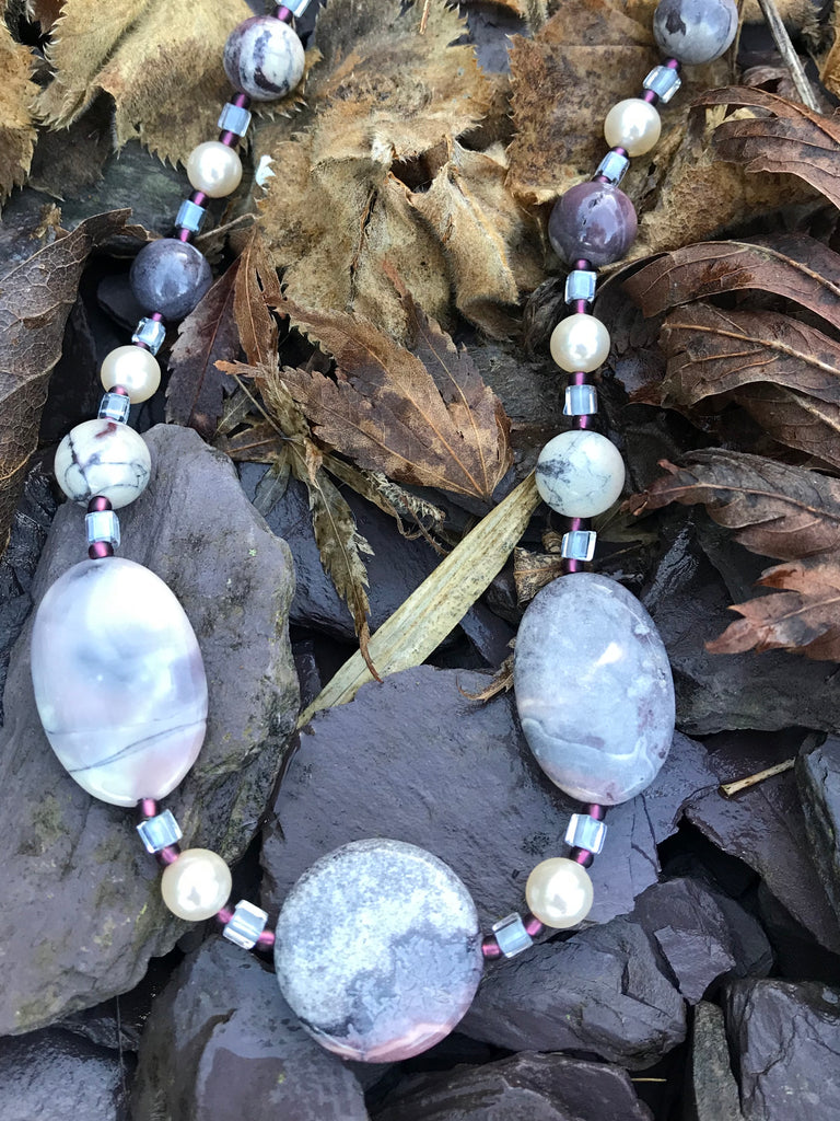 "18-20"" Porcelain Jasper Necklace"