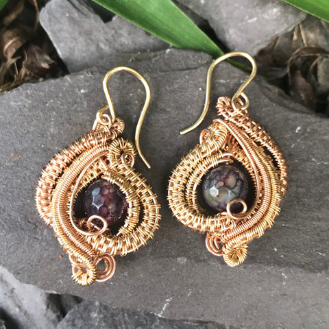 Belle Earrings (gold/rose gold)