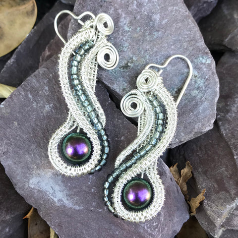 Serpent Earrings (sterling silver)