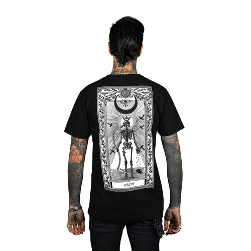 Death Tarot Back Print T-Shirt Black