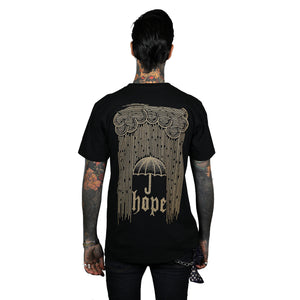 Raining Hope T-Shirt Black