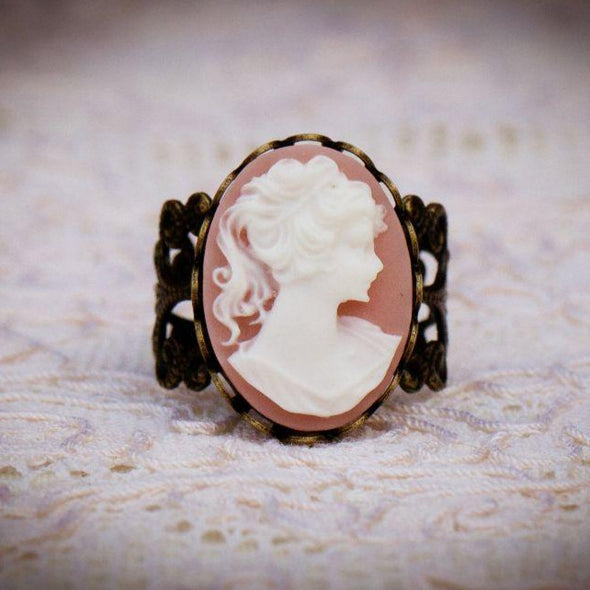 The Victoria Cameo Ring (Color Choices Available)