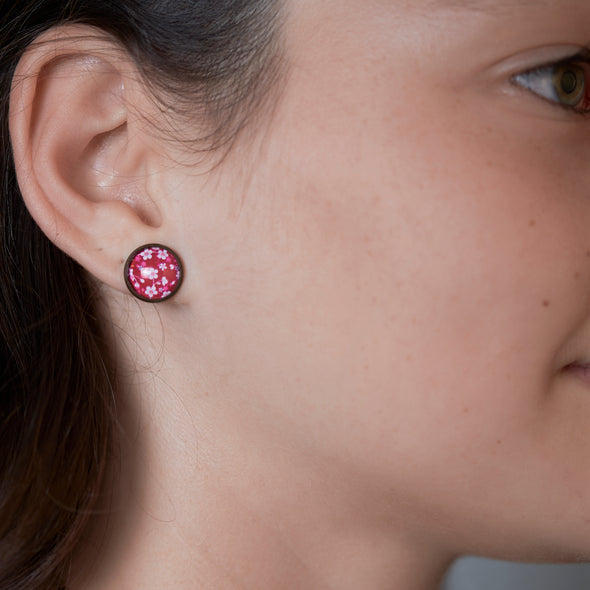 Glass Picture Studs (Floral & Nature)