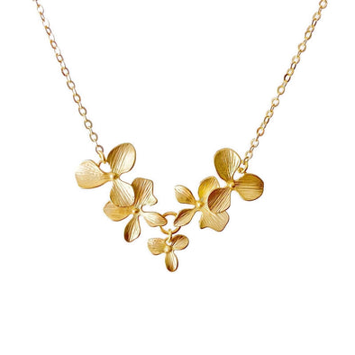 Orchid Necklace-5 Blossoms