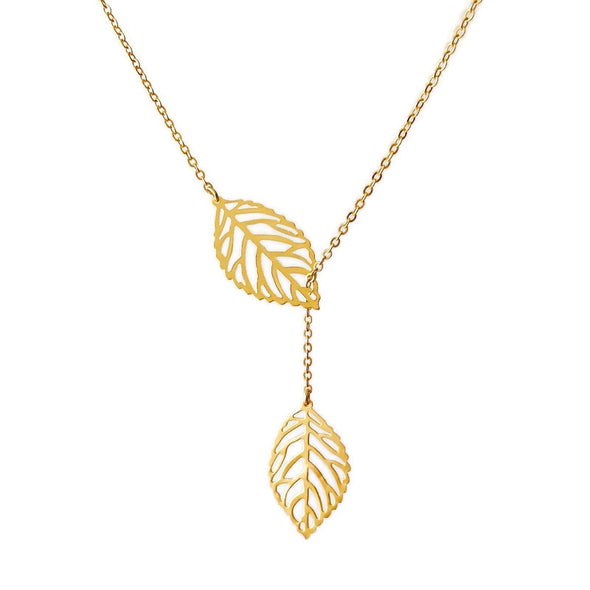 Lariat Filigree Leaf Necklace (The Audrey)