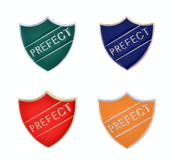 Harry Potter Prefect Badged, Pins, Gryffindor, Slytherin, Hufflepuff, Ravenclaw