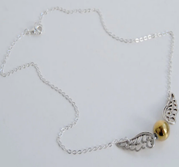 Magical Ball with Wings Necklace