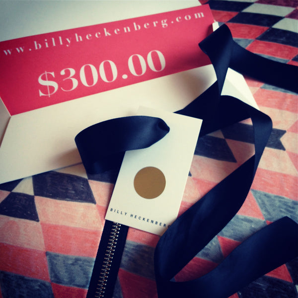 Billy Heckenberg Gift Voucher