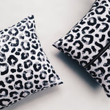 Cushion / Monochrome Leopard / Front Zipper