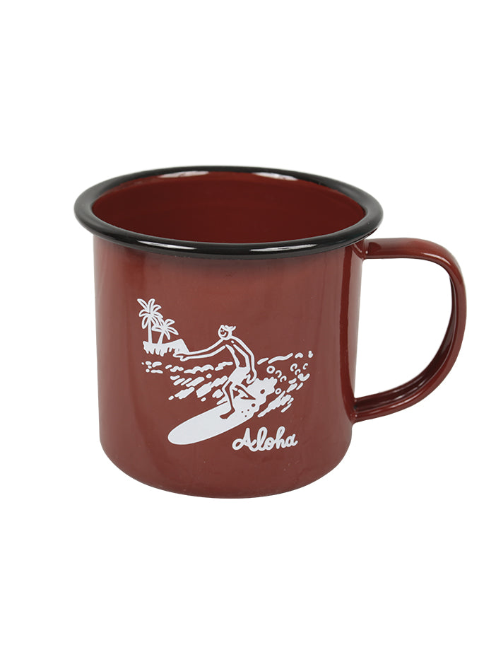 GREENROOM ORIGINAL GR × KOJI TOYODA CAMP MUG ALOHA Brown