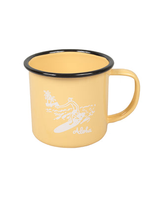 GREENROOM ORIGINAL GR × KOJI TOYODA CAMP MUG ALOHA Yellow