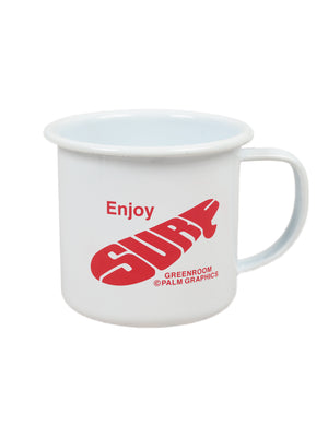 GREENROOM ORIGINAL GR × KOJI TOYODA CAMP MUG ENJOY SURF Red