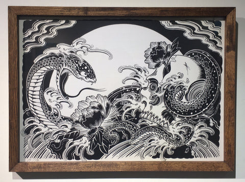 Framed Silkscreen III
