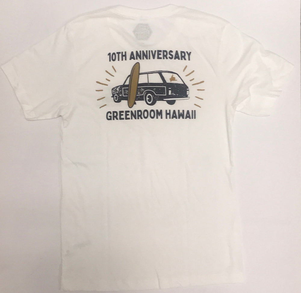 10th Anniversary T-shirt - Wagon - White