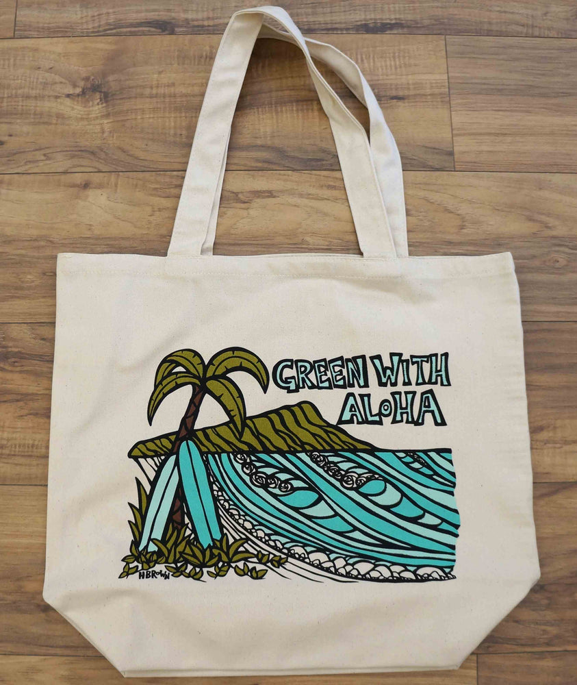 Green With Aloha Diamond Head Tote Bag