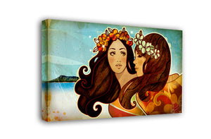 """Hawaiian Girls"" Limited Edition Canvas Giclee"