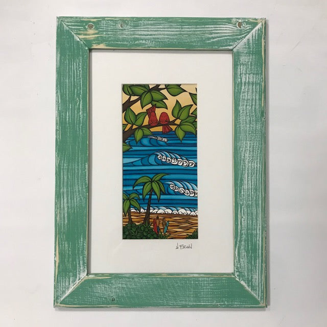 Hawaii Sweetheart Framed Print - Green (L)