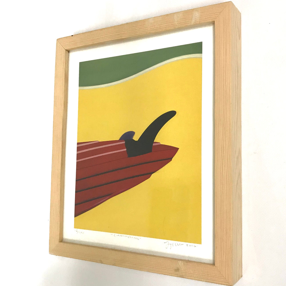 "Natural Wood Framed Print ""Channeling"""