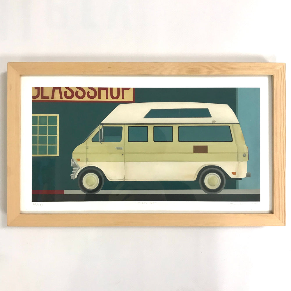 "Natural Wood Framed Print ""Pick Up"""