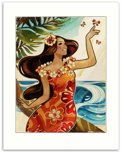 In The Ocean Breeze Matted Print