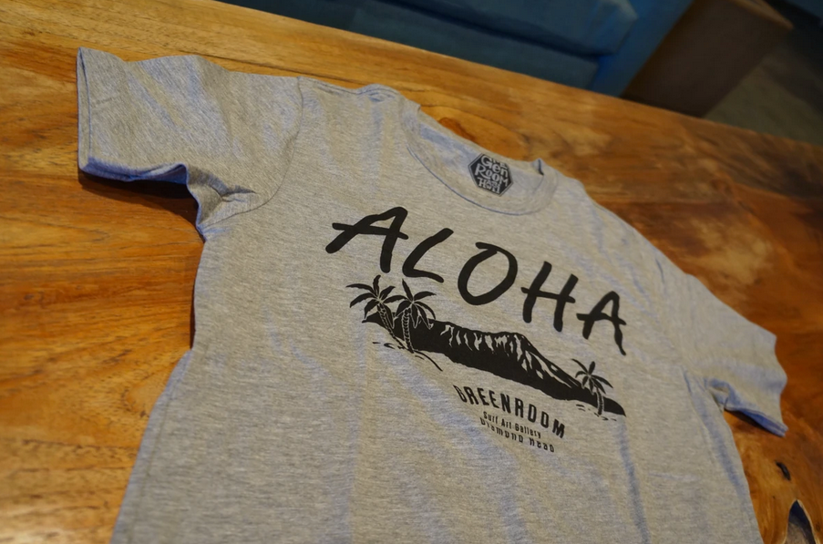 Aloha Diamond Head T-shirt heather grey