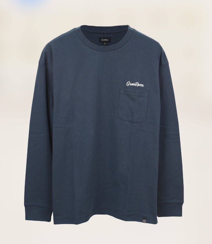 Greenroom Logo Long Sleeve Navy