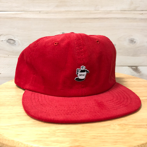 Russ Pope - the THURSDAYMAN Red Corduroy Coffee Hat