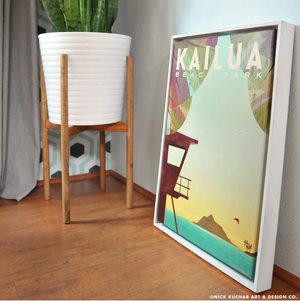 Kailua Beach Park - Framed Canvas