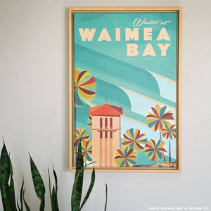 Waimea Bay - Framed Canvas