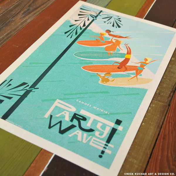 Canoes, Waikiki-Party Wave