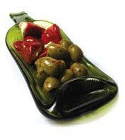 Claret Bottle Dish - Green
