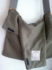 Up Cycled Jacket Messenger Bag (#MB12)