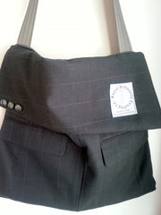 Up Cycled Jacket Messenger Bag (#MB14)