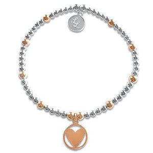 Rose Gold Cleo Heart Bracelet