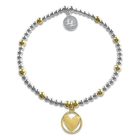 Cleo Yellow Gold Heart Bracelet