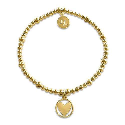 Edith Gold Heart Bracelet