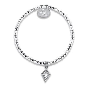 Edith Diamond Shape Charm Bracelet
