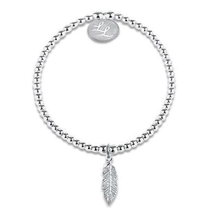 Edith Feather Sterling Silver Bracelet