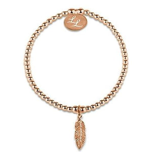 Edith Feather Rose Gold Bracelet