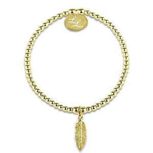 Edith Feather Yellow Gold Bracelet