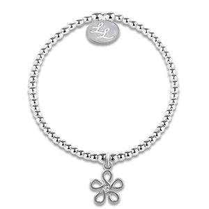 Edith Crystal Flower Bracelet