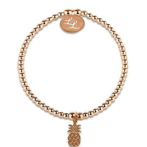 Edith Pineapple Rose Gold Bracelet