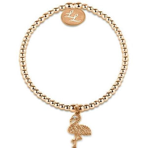Rose Gold Flamingo Bracelet