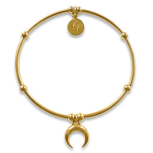 Yellow Gold Crescent Moon